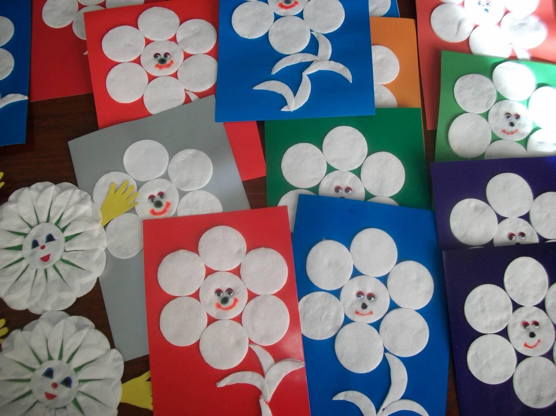 Поделки малышами ватных дисков